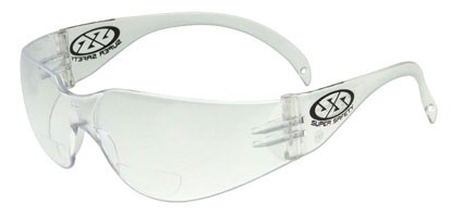 Super Safety ECHO READER Bifocal Safety Glasses - Clear