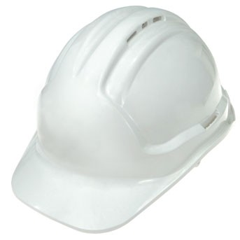 Super Safety Vented Hard Hat - White