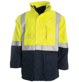 4 in 1 Combo Waterproof Jacket - Yellow / Navy