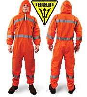 Trident Reflective Taped SMS Disposable Coverall