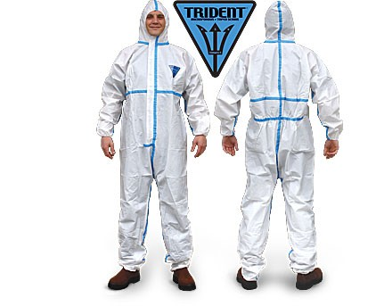 Trident MICROPOROUS + TAPED SEAMS Disposable Coveralls