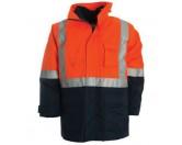 4 in 1 Combo Waterproof Jacket - Orange / Navy